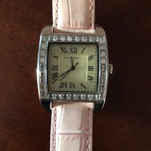 Isaac Mizrahi Watch with Leather Band